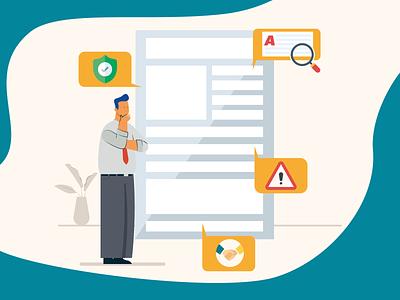 Contract analysis contract analysis contract illustrator vector adobeillustrator characterdesign illustration