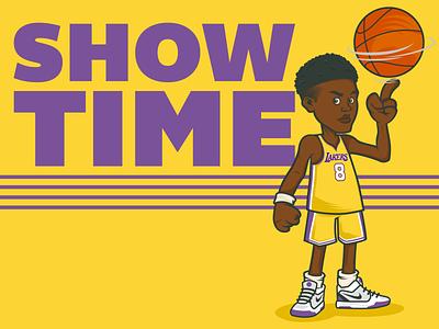 Showtime showtime lakeshow lakers cartoon illustrator characterdesign adobeillustrator vector illustration