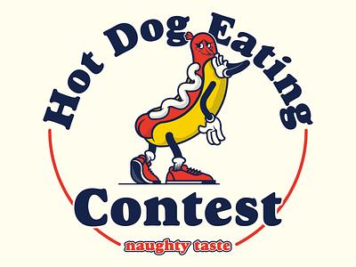 Hot Doggie hot dog naughty dog naughty mascot character design characterdesign adobeillustrator vector illustration