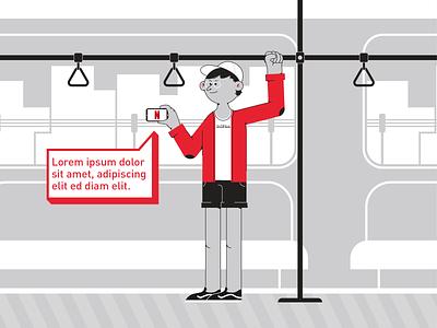 Netflix bundle illustrator subway netflix illustrations 2d characterdesign vector illustration