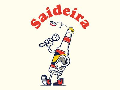 Saideira onefortheroad saideira 2d mascot illustrator characterdesign illustration vector beer