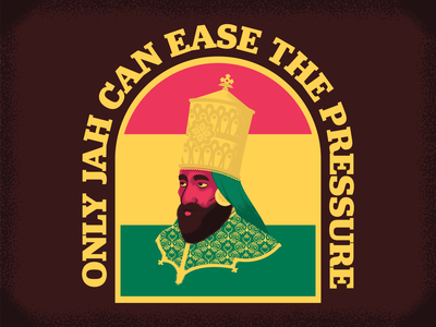 Only Jah can ease the pressure reggae nation reggae jah almighty jah almighty rasta design illustrator adobeillustrator vector illustration