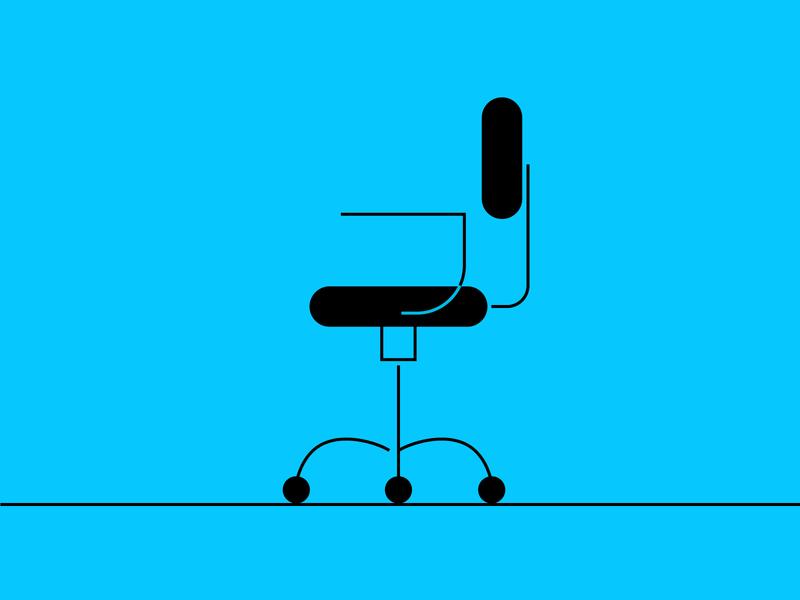 Vacant chair icon branding design vector illustration