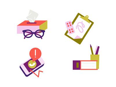 Burnout icons vector adobeillustator psychologist iphone doctor burnout icon set icon design illustration