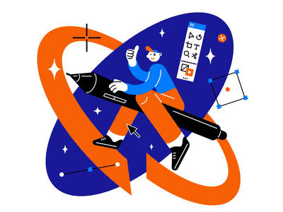 Cosmonautics Day 🚀 cosmonautics day photoshop spaceman space vector design character illustration