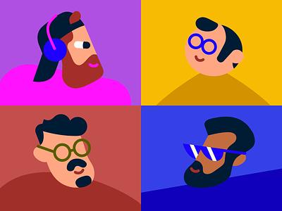 ILLO guys illustration portrait anyadraw characterdesign vector character design illustration