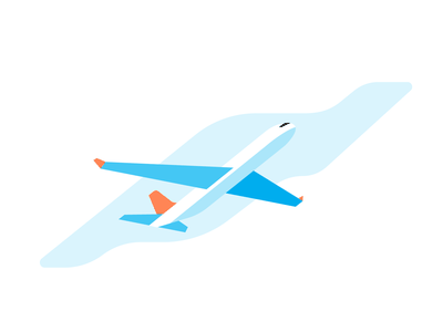Plane plane aircraft blue vector design illustration