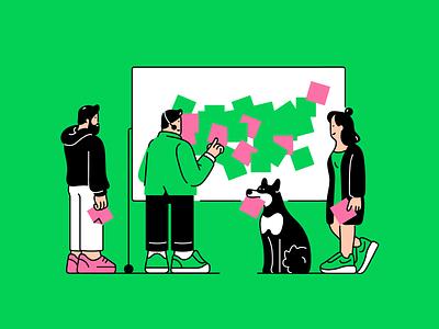 Brainstorm it vector anyadraw officelife office brainstorm dogillustration dog characterdesign character design illustration
