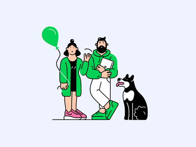 Welcome welcome itillustration dog characterdesign design character illustration