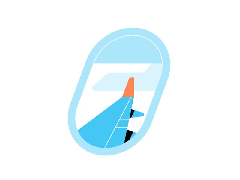 favorite place travel plane illustration illo flight contrast color design character blue airplane adventure