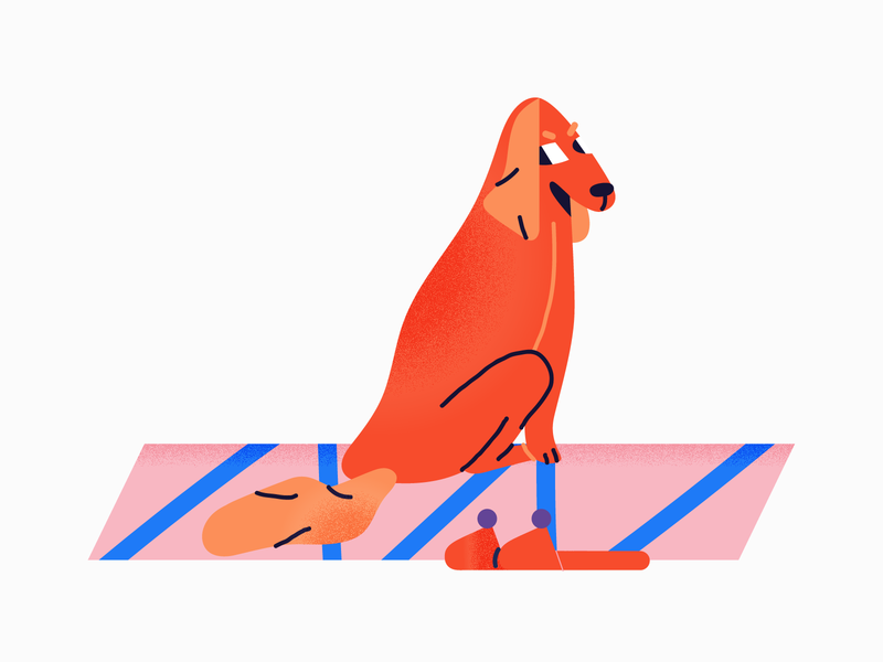 Watching you mail.ru dog character illustration vector