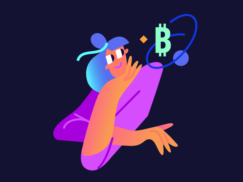 How much do you know about crypto? girl crypto wallet cryptocurrency crypto on-boarding onboarding app character design illustration