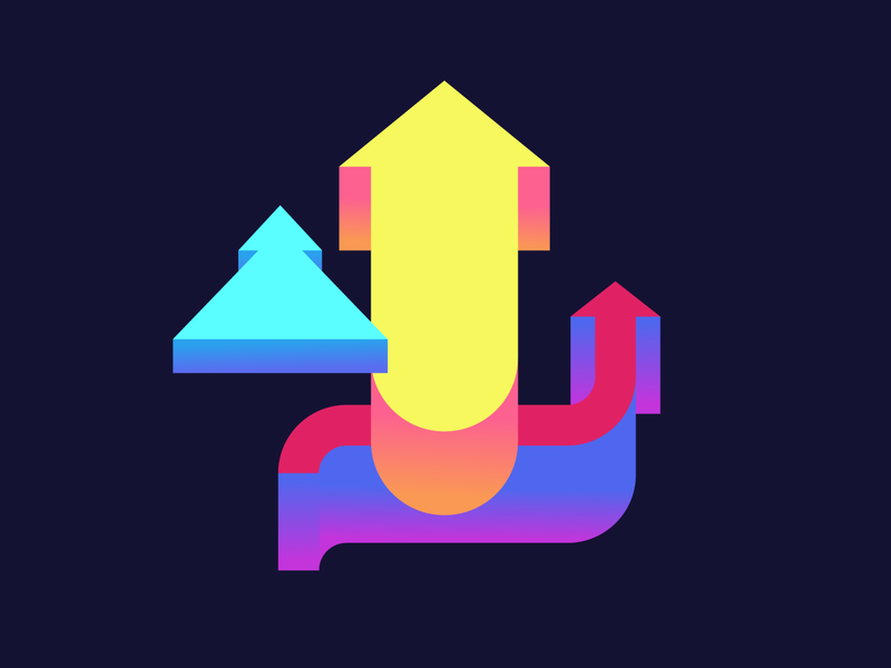 Choose the Way ☝️ crypto gradient abstract choice on-boarding onboarding app way direction arrows vector design illustration