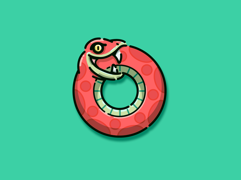 Ouroboros serpent snake ouroboros characterdesign illustration adobe illustrator vector