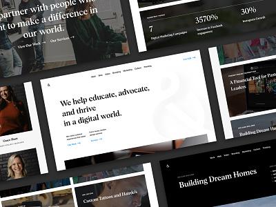 Cross & Crown culture marketing video branding sketchapp layout company firm design website