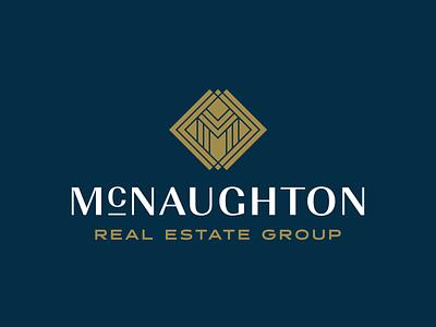 McNaughton Real Estate Group typography mark brand identity logo design logo