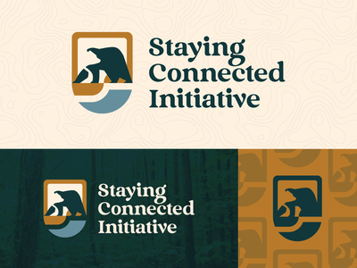 Staying Connected Initiative - Branding shield bear outdoors branding illustration mark design logo