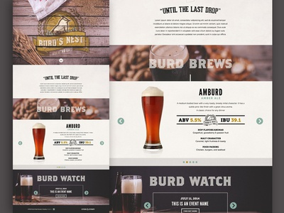 Burd's Nest website cacpro layout beer lager ale stout wheat craft brewery photography cross and crown