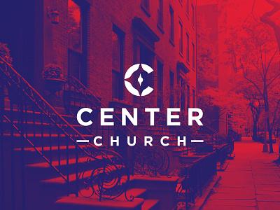 Center Church type gotham c center compass brooklyn nyc church identity mark logo