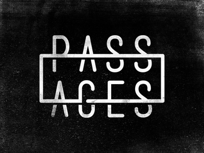 Passages music band identity mark logo