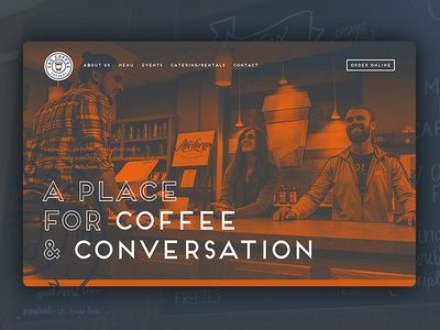 C & C Coffee shop coffee design typography grid layout website