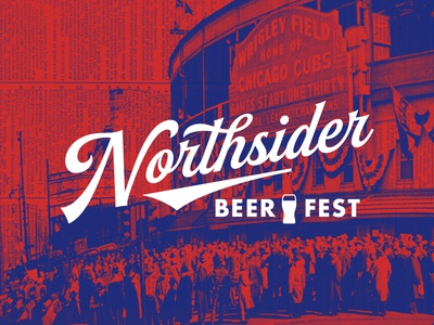 Northsider Beer Fest north side chicago craft brew festival beer identity mark logo