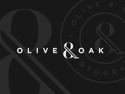Olive & Oak ampersand photography identity mark logo