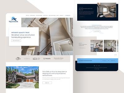 IQ Custom Construction custom home builder design layout website