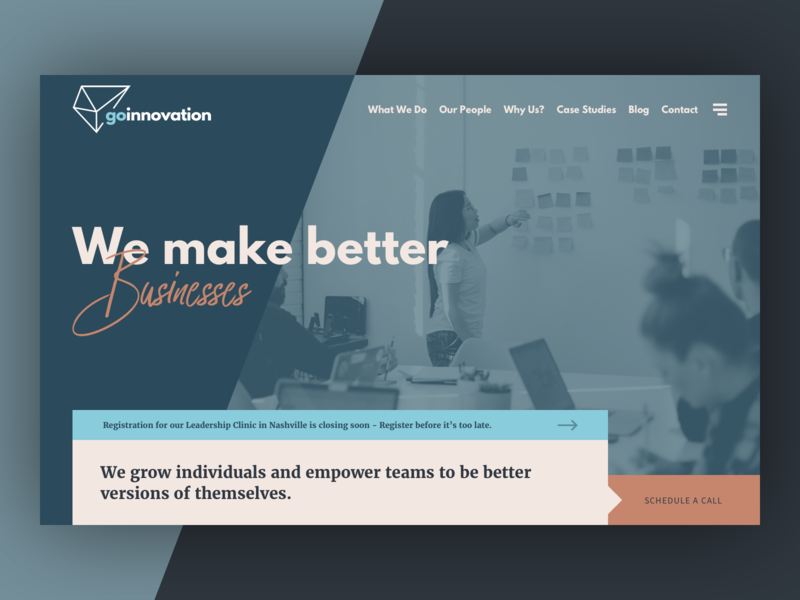 Go Innovation web design layout website