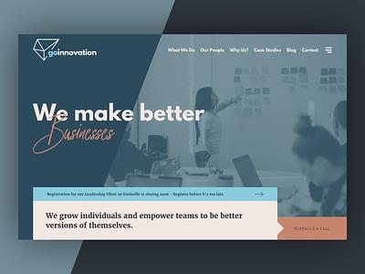 Go Innovation web design layout website