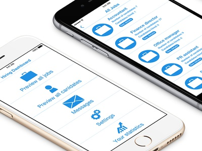Recruitment application design - Isometric view userexpeirence userinterface appdesign iphoneapp typography graphic design mobile app ui design uiux