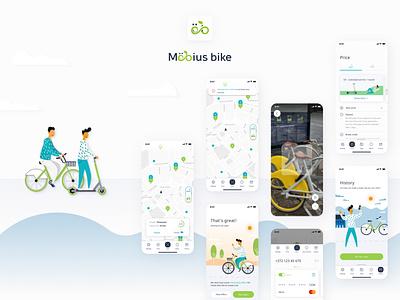 Mobius bike app redesign mobile app
