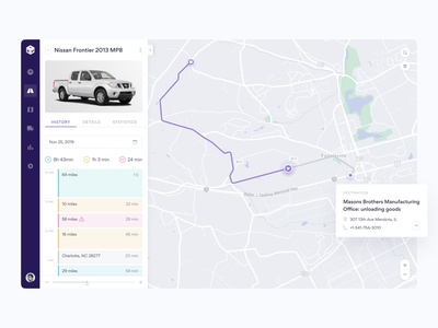 Fleet Management Web App web app vehicle car ux ui trucks transportation timeline saas rideshare product design map logistics fleet management fleet b2b