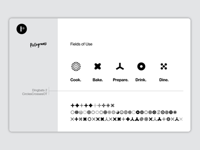 Pictograms for Penguen Collection corporate branding icons