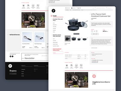 Shot: Product Page ui ux design