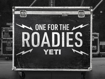 One For The Roadies Campaign Lockup campaign design crew nation live nation charity music roadie roadies 2020 brand assets design graphic lockup logo campaign yeti