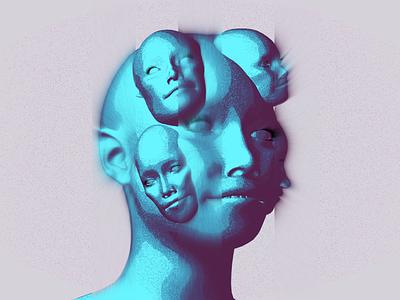 Fce cinema 4d lite cel shader blue experiment fuse face