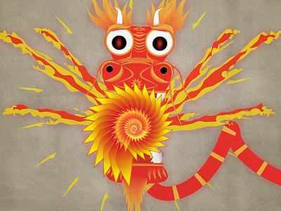 Dragon from Zodiac Animation Colab fire zodiac dragon animation