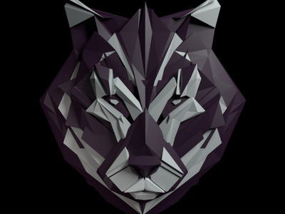 Wolf blender b3d wolf lowpoly