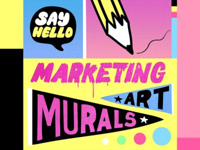 Let's DM murals art icons illustration marketing