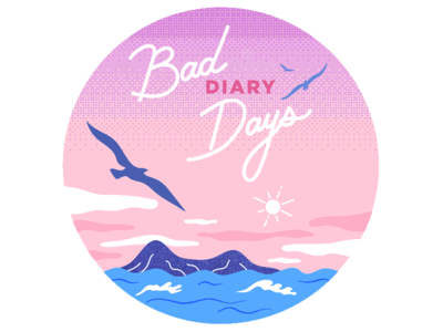 Bad Diary Days illustration bird pedro the lion landscape tropical music