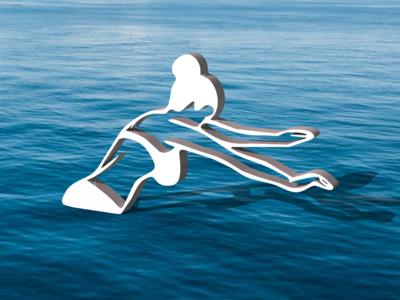 Swim 3-D swimsuit swim illustration 3d art 3d