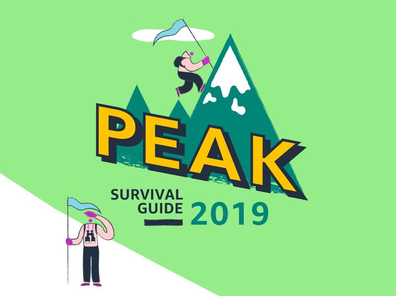 Amazon Peak illustration nature mountain amazon branding logo