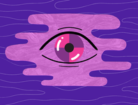 Eye Talk illustration abstract face eyeball icon eye