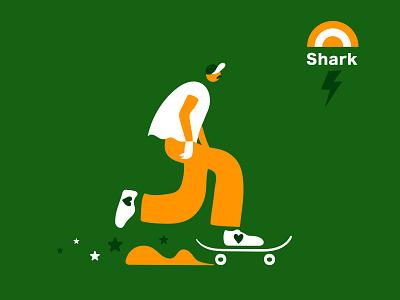 Shark branding concept branding skate skateboarding art skateboarding skater