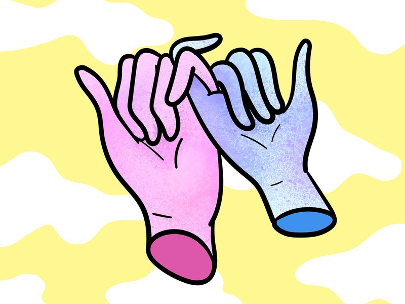 Love Ya illustration fingers handshake icon hands