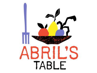 Abril's Table logo catering logo branding catering