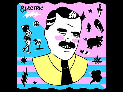 Electric drawings hula icons sketchbook