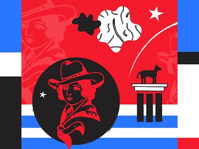 Cowgirl america flag horse cowgirl
