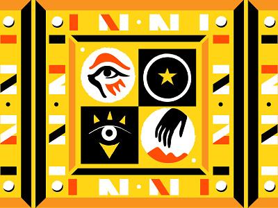 Ancient Anime desert illustration icons egypt pattern